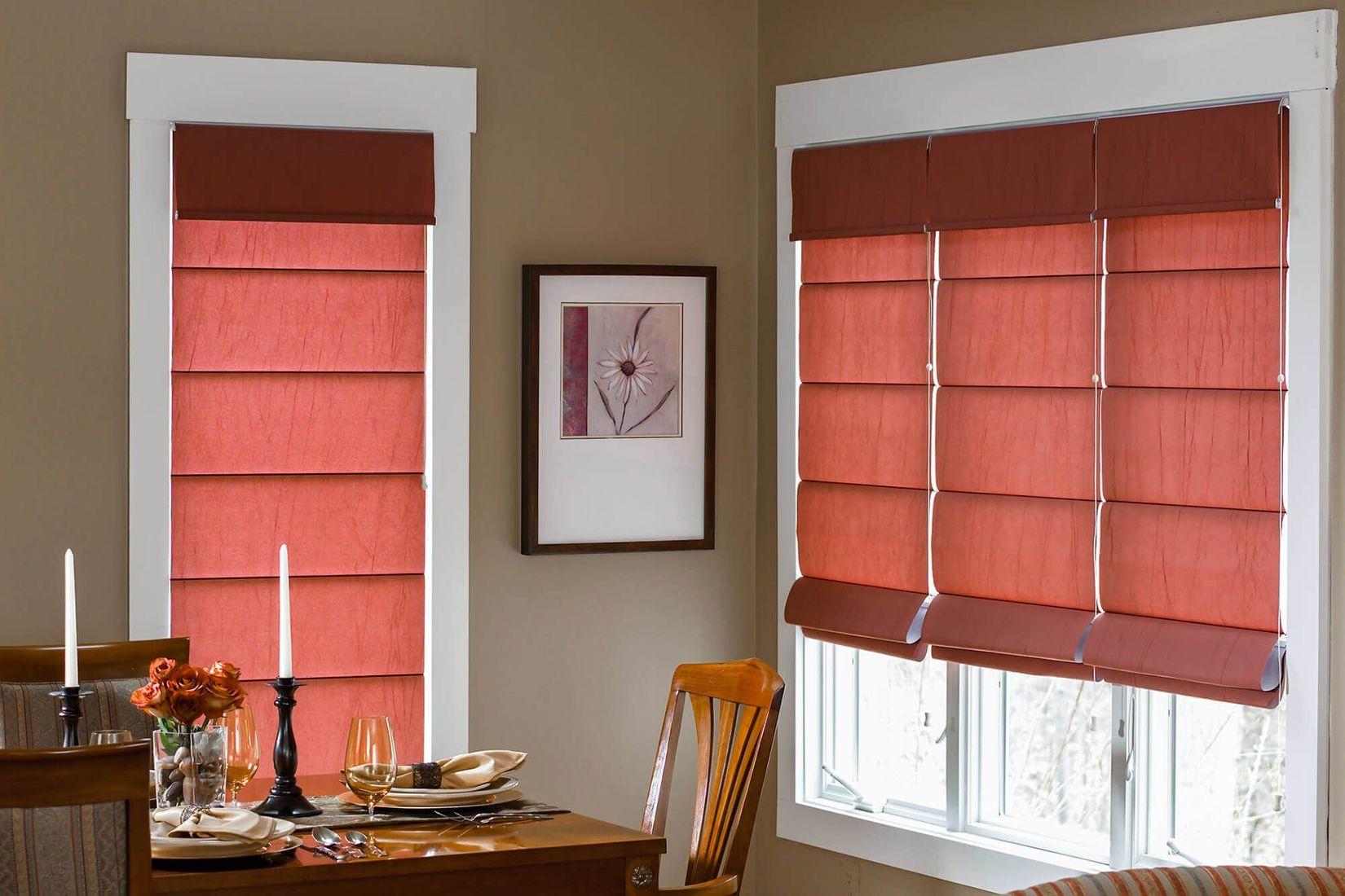 cortinas roman shades